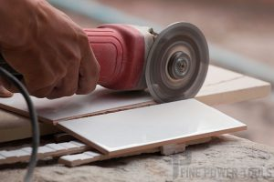 Cutting tile using Angle Grinder