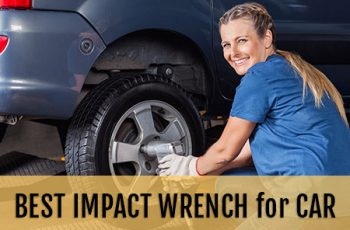 Impact wrench lug nut removal