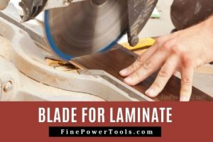 Blade for laminate flooring