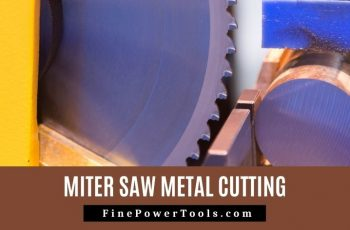 Image: Metal cutting using Miter Saw