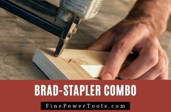Use brad nailer to shoot staples.