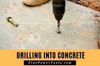 Drilling Concrete without Hammer Drill