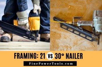 Framing nailer 12 vs 30 degree